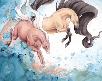 Water Horses Print
