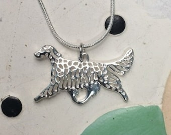 Afghan Hound Metal Charm Necklace - FREE SHIPPING
