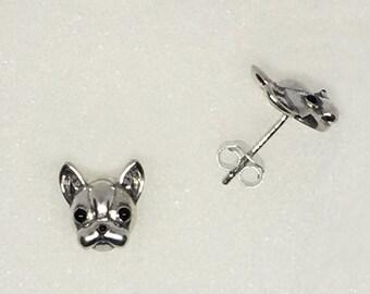 French Bulldog Metal Earrings - FREE SHIPPING