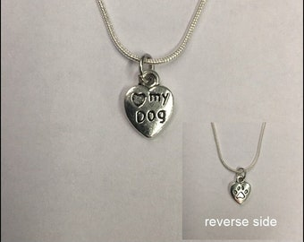 Love My Dog Charm Necklace - FREE SHIPPING