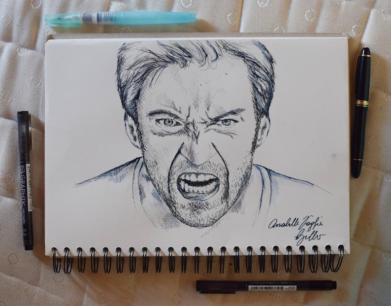 Custom Pencil/Ink Drawn Portrait image 0