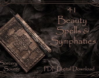 Beauty Spells, Digital Book, BOS Pages, Spell Books, Grimoire Printable, Book of Shadows Pages, Baby Witch, Grimoire Pages, Witchcraft