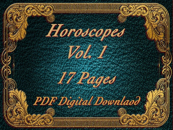 Horoscopes Vol  1, Wicca, Witchcraft, Book of Shadows, Witch, BOS Pages