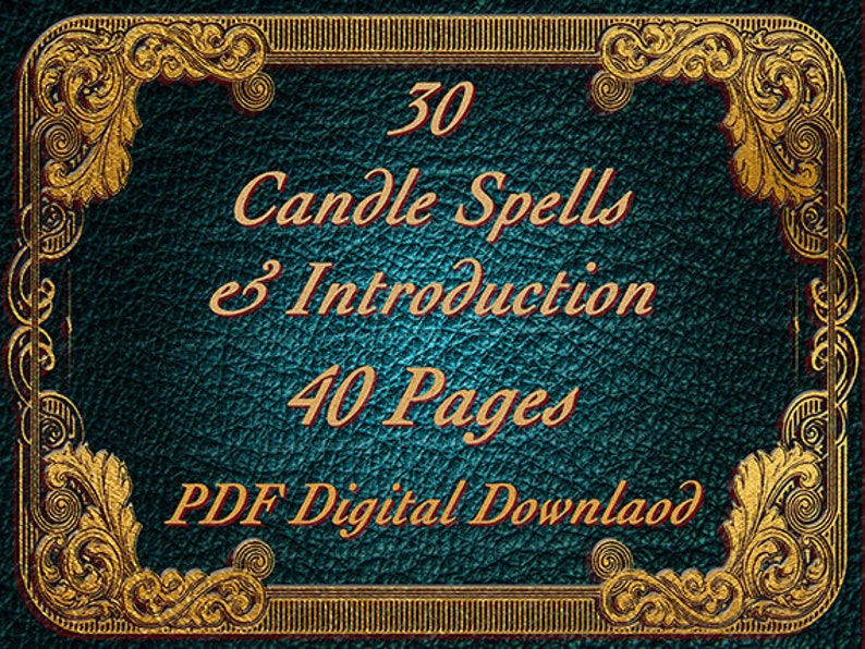 Candle Burning Spells, 30 Spells, 40 Pages, BOS Pages