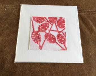 Unique screen printed greetings cards