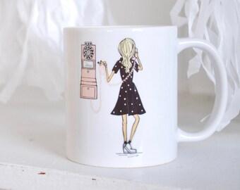 Ring Ring Old Fashioned Telephone Coffee Mug
