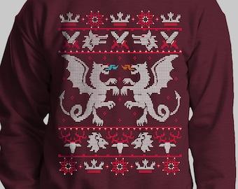 6e1bfa13956c11 Game of Thrones Christmas Sweater / Dragon Xmas Jumper