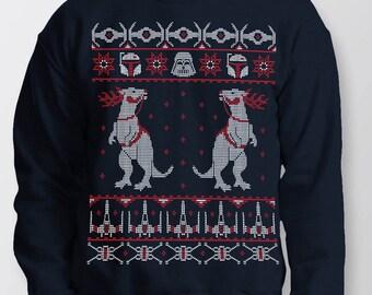 Starwars Kersttrui.Star Wars Sweater Etsy
