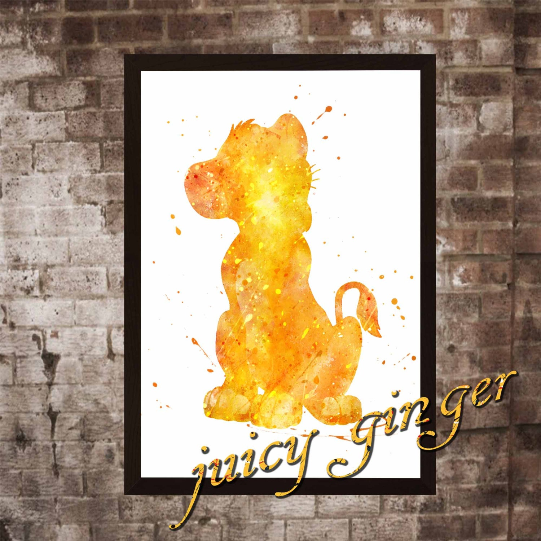 The Lion King art print The Lion King disney watercolor   Etsy