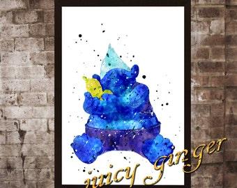 Biggie Poster,Trolls Watercolor, Home Decor, Art Print, instant download, digital printing, watercolor printing
