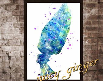 Guy Diamond Poster,Trolls Watercolor, Home Decor, Art Print, instant download, digital printing, watercolor printing