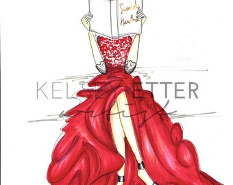 INSTANT DOWNLOAD Fashion Illustration- Shopaholic Handbook