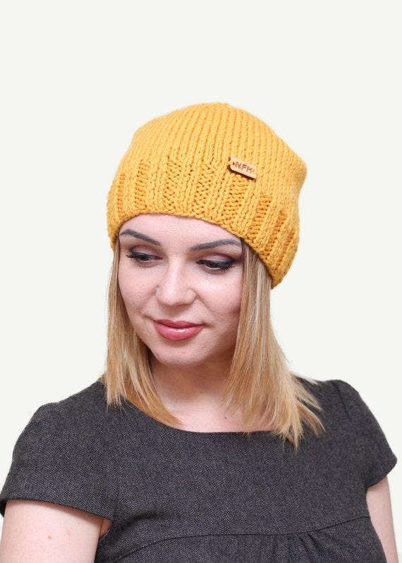 Womens Strickmütze gestrickte Damen Mützen stricken Hut für   Etsy