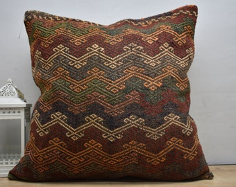 cotton kilim pillow cover 28x28 turkish pillow moroccan pillow 70x70 white kilim pillow southwestern tribal berber pillow 28x28 mudcloth