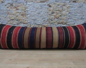 bohemian pillow kilim pillow 16x48 handmade pillow turkey pillow tribal pillow throw pillow aztec pillow sofa decorative pillow code 095