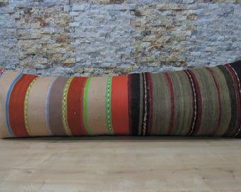 bohemian pillow 16x48 kilim pillow throw pillow aztec pillow morocco pillow boho decor armchair pillow kilim pillow 16x48 code 045