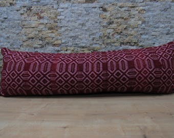 dark red colored kilim pillow case 16x48 wonderful color turkish pillow bohemian kilim pillow turkish decorative bedding pillow code 061