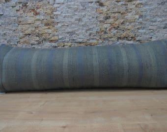 decorative sofa handmade pillow 16x48 faded color turkish kilim pillow cover kilim cushion turkish bolster nomadic pillow code 035