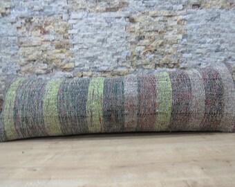 striped kilim pillow turkey pillow 16x48 kilim cushion bohemian pillow decorative pillow 16x48 floor pillow boho tribal pillow code 096