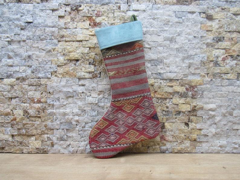 bohemian kilim decorative fireplace socks wall decor christmas stocking 11x18 christmas decor socks decorative santa socks christmas gift