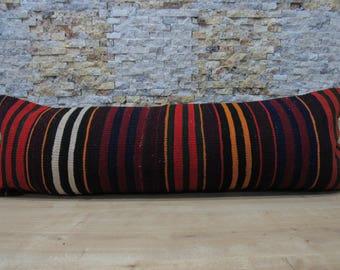multicolored pillow 16x48 turkey pillow kilim pillow sofa pillow handmade pillow organic pillow tribal pillow throw pillow code 106