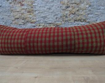 handmade turkish pillow 16x48 sofa pillow decorative pillow home decor striped pillow anatolian aztec pillow bedding pillow cover code 058