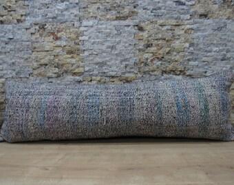 natural organic pillow 16x48 anatolian kilim pillow sofa pillow aztec pillow bohemian pillow tribal pillow pillow cover 16x48 code 067