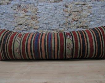 color vintage kilim pillow cover 16x48 kilim pillow home decor floor cushion decorative bohemian pillow turkish pillow code 085