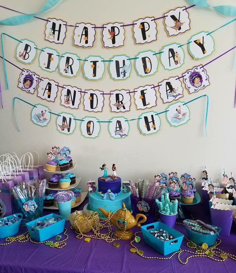 Aladdin Jasmine Banner Birthday Party Decorations Etsy