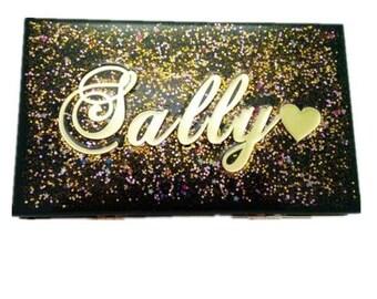 Customised Personalised Acrylic Clutch Bag Personalised evening bag Ladies  Landmark birthday gifts
