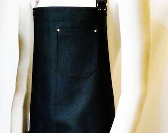 Black Leather Apron, Made in Canada. Butcher, Blacksmiths, Tattooist, Metal fabricator, Chefs, Pit masters.