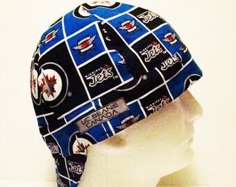 Winnipeg Jets NHL Canadian Hockey welders cap hard hat liner reversible beanie skull cap construction tradesman gas fitter biker