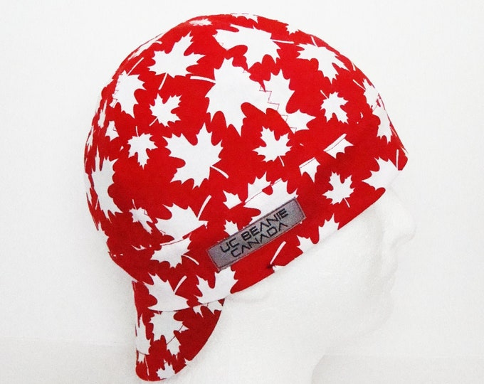 "22 1/4"" Canada Double Premium Reversible welders cap Size 7 1/8 hard hat liner beanie skull cap construction tradesman gasfitter biker"