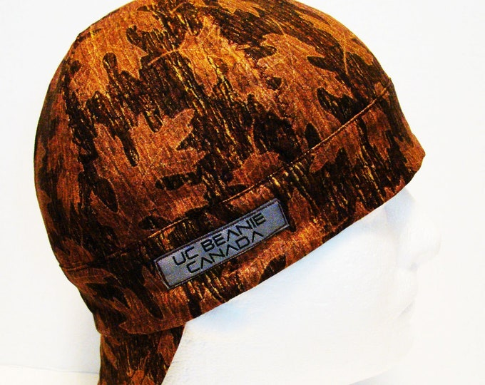 Oak Leaf welders cap hard hat liner beanie skull cap construction tradesman gas fitter biker