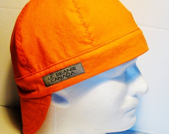 PPE Safety Orange welders cap hard hat liner reversible beanie skull cap construction tradesman foreman gas fitter biker medical cap surgeon