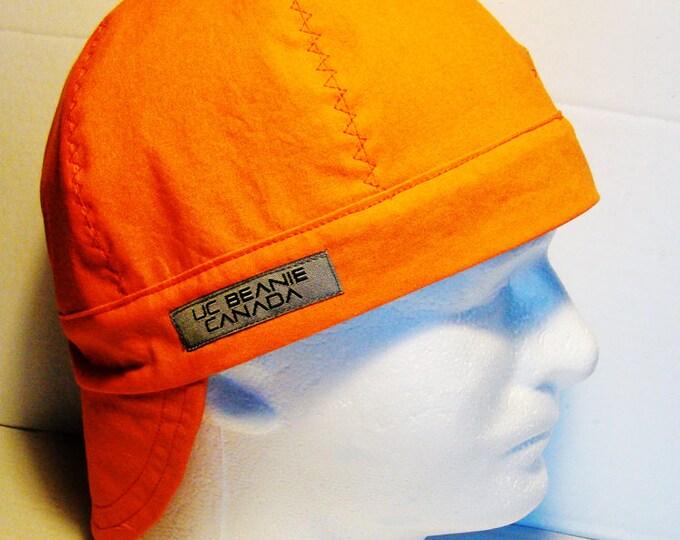 PPE Safety Orange welders cap hard hat liner reversible beanie skull cap construction tradesman foreman gas fitter biker medical cap surgeon
