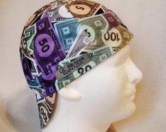 Monopoly money welders cap hard hat liner beanie skull cap construction tradesman gasfitter biker