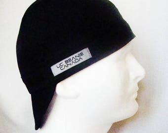 PPE Black welders cap hard hat liner reversible beanie skull cap construction tradesman gasfitter biker medical cap surgeons cap