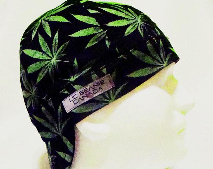 035f550f3fa Black Marijuana welders cap hard hat liner beanie skull cap construction  tradesman gasfitter biker