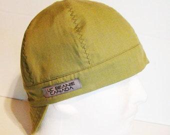 PPE Light Khaki Green welders cap hard hat liner beanie skull cap construction tradesman gasfitter biker medical cap surgeons cap