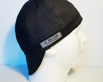 PPE Grey welders cap hard hat liner reversible beanie skull cap construction tradesman gasfitter biker medical cap surgeons cap