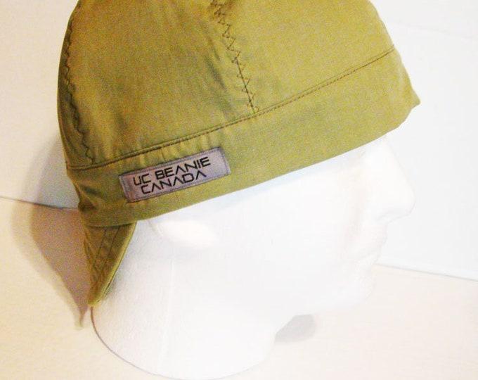 0e41373f626 Light Khaki Green welders cap hard hat liner beanie skull cap construction  tradesman gasfitter biker