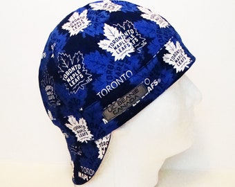 NEW Toronto Maple Leafs NHL Canadian Hockey welders cap hard hat liner reversible beanie skull cap construction tradesman gas fitter biker