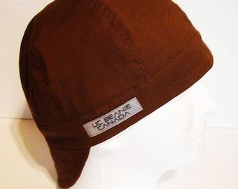 PPE Brown welders cap hard hat liner reversible beanie skull cap construction tradesman gasfitter biker medical cap surgeons cap nurses cap