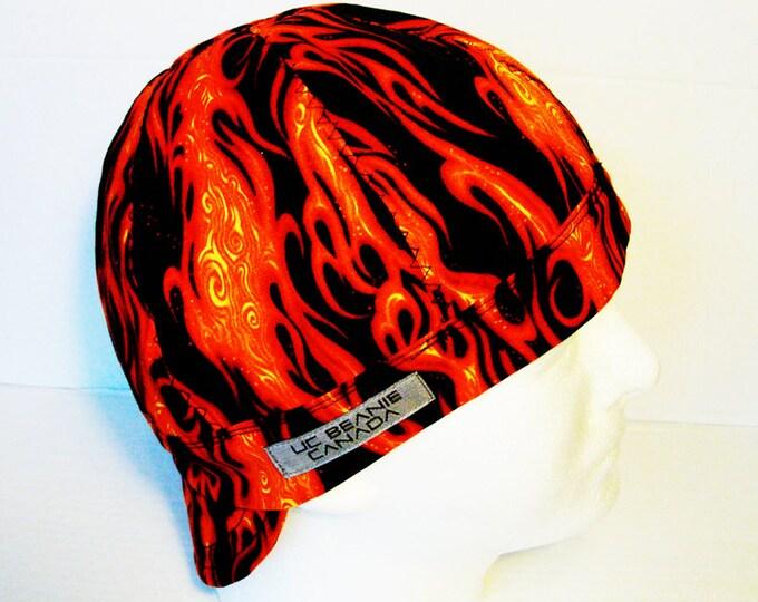 62e618f8e16 Dragons breath flames welders cap hard hat liner beanie skull cap  construction tradesman gasfitter biker