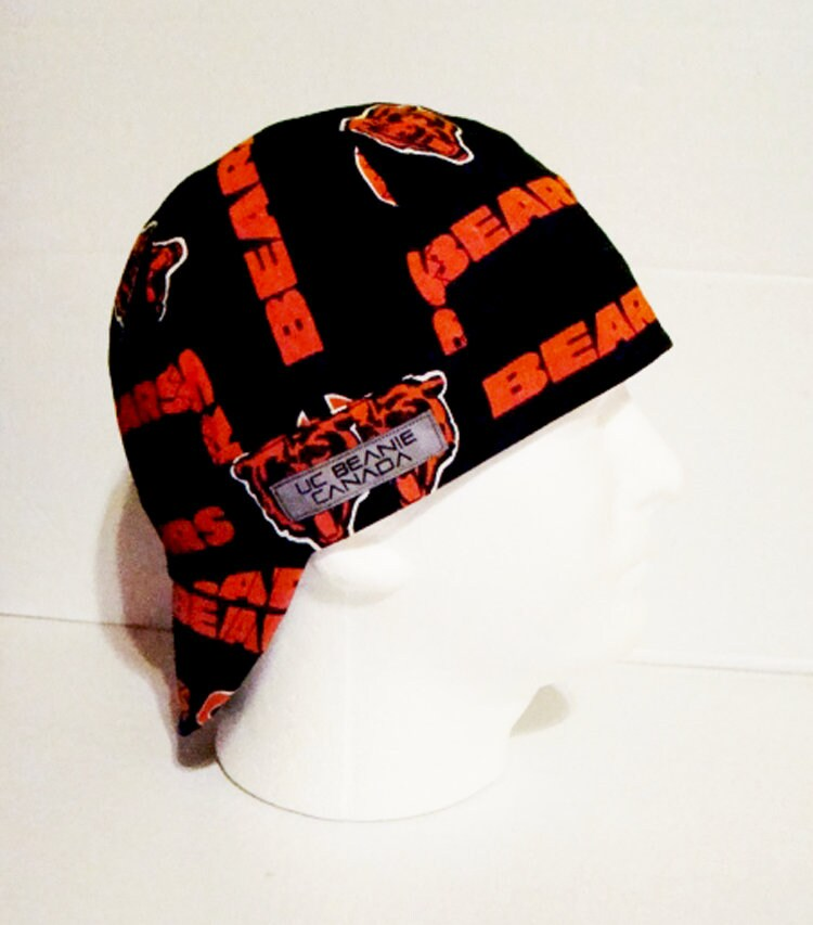 nfl chicago bears hard hat beanie cap welder construction tradesman