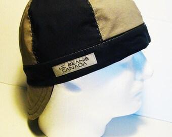 Grey and Navy welders cap hard hat liner reversible beanie skull cap construction tradesman  gasfitter biker