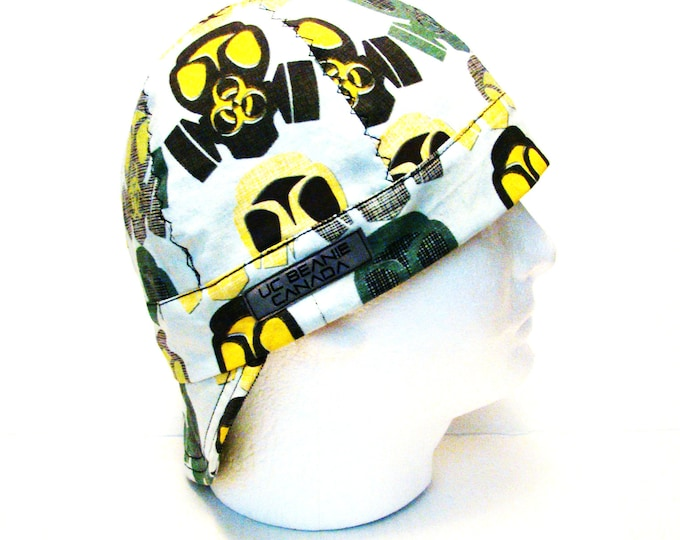 Gas Mask Trefoil welders cap hard hat liner beanie skull cap construction tradesman gas fitter biker