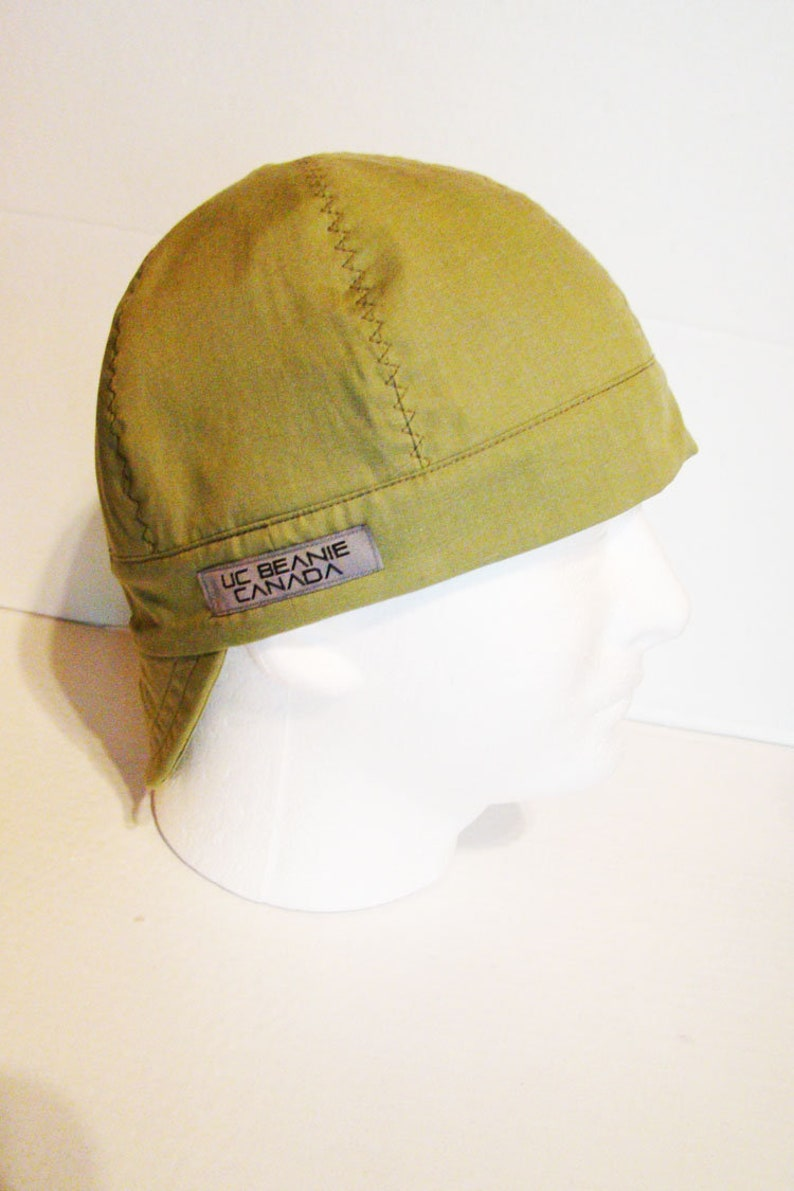 74a40fcf0e513 Light Khaki Green welders cap hard hat liner beanie skull cap