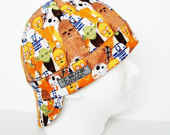 "23 1/2"" Star Wars welders cap Size 7 1/2 hard hat liner beanie skull cap construction tradesman gas fitter biker"